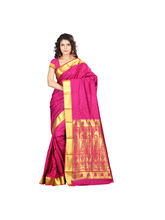7 Colors Lifestyle Women's Pure Polyster Jacquard Embroide Saree, multicolor