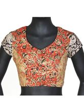The Blouse Factory Mix And Match Kalamkari Padded Blouse, 42, multicolor