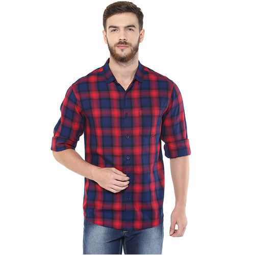 Checks Regular Slim Fit Shirt