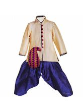 Lil Poppets Paisley Sherwani for Boys, beige, 1