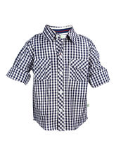 ShopperTree Check Toddler Shirt For Boys - ST-1346, blue, 0 6m