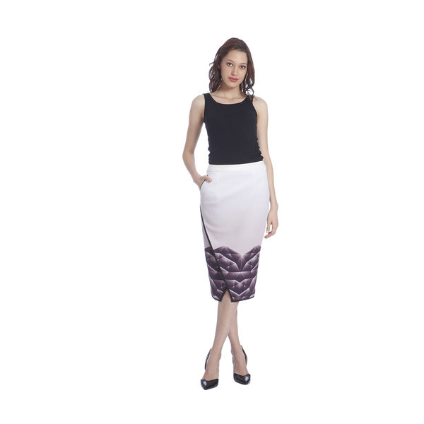 Kanika Goyal Shattered Glass Print Graded Pencil Skirt, m