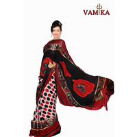 Vamika Attractive Chiffon Saree - VMS0072, multicolor