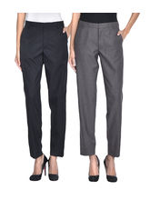 iHeart Women's Formal Office Trousers - Pack of 2, 32, multicolor