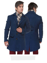 Sobre Estilo Premium Cotswool Men Overcoat - WV0011053, royal blue, xl