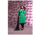 Fabliva Latest Designer Heavy Straight Suit, green