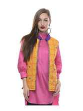 Lavennder Cotton & Quilt Women's Jacket, l, yellow