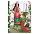 Fabliva Georgette & Satin Women's Unstitched Salwar Suit, multicolor