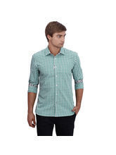 Punctuate Sassy Smart Casual Shirts, green, l