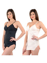 Mynte Shehmeez Bra Combo - Pack of 2, 32, black and beige