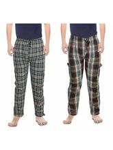 DS COTTON MULTICOLOR CHECK REGULAR FIT ATTRACTIVE TRACKPANT COMBO FOR MEN, design 2, m