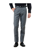 American-Elm Men's Basic Cotton Formal Trouser, 36, grey