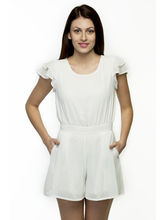 Oxolloxo Women's Playsuit, off white, l