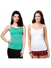Phalin Pack Of 2 Lace Tees Top Splac_ c2_ 4, 36, multicolor