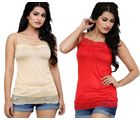 Phalin Pack Of 2 - Lace Top Cam_ Lace2_ 9, multicolor, 40