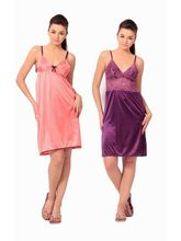 Klamotten Satin Short Nighty, multicolor
