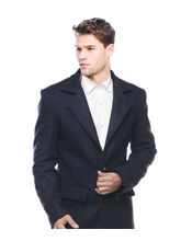 Sobre Estilo Premium Cotswool Men Overcoat - WV0013413, navy blue, xl