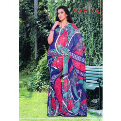 Vamika Attractive Chiffon Saree - VMS0036, multicolor