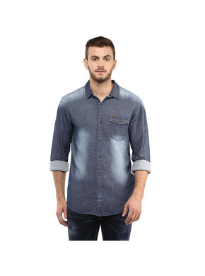 Denim Regular Shirt,  blue, xxl