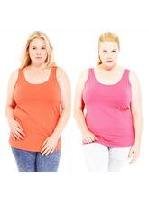 Phalin Pack Of 2 - Plus Size Tank Top Pvest_ c2_ 27, 40, multicolor