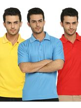 Lime Offers Combo of 3 Men's Polo T-Shirts, multicolor, xxl