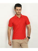 Fundoo T Men's Polo T-shirt, red, s