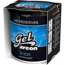 Areon Gel Car Air Freshener Car Perfume-Wish, standard-black