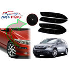 Auto Pearl - Premium Quality Car LED Blinking Bumper Protector for Honda CRV - Set of 4Pcs, black