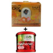 Car Perfume Godrej Air click & Liboni Air Freshner - Brite&Rose, red