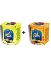 Combo of Areon Gel Air Freshener Lemon+ Orange, multicolor
