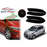Auto Pearl - Premium Quality Car LED Blinking Bumper Protector for Fiat palio - Set of 4Pcs, black