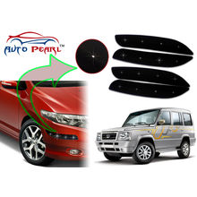 Auto Pearl - Premium Quality Car LED Blinking Bumper Protector for Tata Sumo - Set of 4Pcs, black