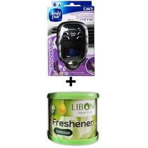 Car Perfume Ambi Pur 7ml Starter Kit & Liboni Air Freshner - Lavendor&Jasmine, green