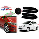 Auto Pearl - Premium Quality Car LED Blinking Bumper Protector for Honda Amaze - Set of 4Pcs, black