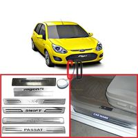 FloMaster Foot Steps Sill Plate for Ford Figo (Set of 4)