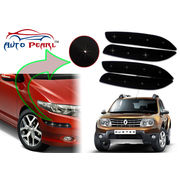 Auto Pearl - Premium Quality Car LED Blinking Bumper Protector for Renault Duster - Set of 4Pcs, black