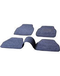 Premium Quality 2D Fabric Car Mats with PVC Coating For Renault Duster, black-grey