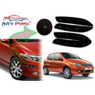 Auto Pearl - Premium Quality Car LED Blinking Bumper Protector for Tata Indica - Set of 4Pcs, black