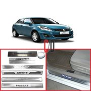 FloMaster Foot Steps Sill Plate for Maruti New Swift Dezire (Set of 4)