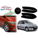 Auto Pearl - Premium Quality Car LED Blinking Bumper Protector for Daewoo Matiz - Set of 4Pcs, black