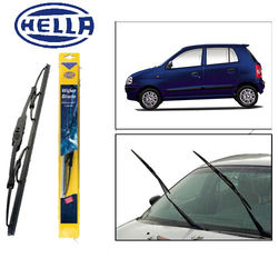 Hella Wipers for Hyundai Santro Set of 2 Pcs, Black