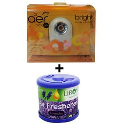 Car Perfume Godrej Air click & Liboni Air Freshner - BriteLevendor, blue