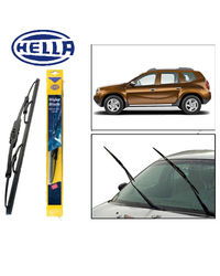 Hella Wipers for Renault Duster Set of 2 Pcs, Black