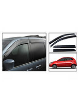 CarMobCentral Tata Indica Vista Car Rain / Wind / Door Visor Side Window Deflector Set Of 4 Pieces, Black