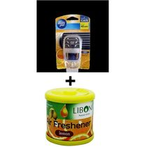 Car Perfume Ambi Pur 7ml Starter Kit & Liboni Air Freshner - Sweet Citrus&Lemon, yellow