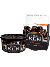 Areon Ken Car, Home, office Air Freshener Black Crystal Flavor