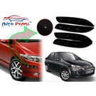 Auto Pearl - Premium Quality Car LED Blinking Bumper Protector for Ford Fiesta Classic - Set of 4Pcs, black
