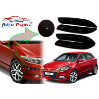 Auto Pearl - Premium Quality Car LED Blinking Bumper Protector for Hyundai i20Elite - Set of 4Pcs, black