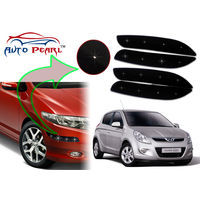 Auto Pearl - Premium Quality Car LED Blinking Bumper Protector for Hyundai i20 - Set of 4Pcs, black