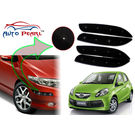 Auto Pearl - Premium Quality Car LED Blinking Bumper Protector for Honda Brio - Set of 4Pcs, black